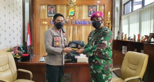 Pangkalan TNI AL Palu Gelar Courtesy Caal Di Kab.Banggai
