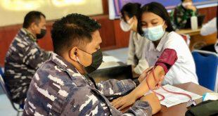 Peringati HUT Ke 76 Tahun TNI AL, Gelar Vaksinasi Di Kampus STIE Panca Bhakti