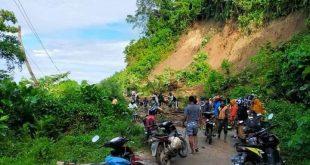 Akibat Longsor Akses Jalan Desa Walandano Mengalami Kerusakan Parah
