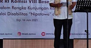 Anggota DPR RI PDI – P Dapil Sulteng Matindas Beri Bantuan Atensi Penyandang Disibilitas