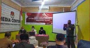 KPU Tolitoli Plenokan Hasil Daftar Pemilih Berkelanjutan